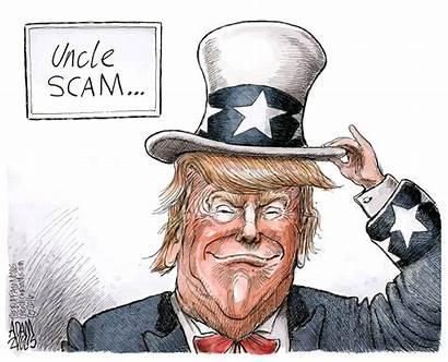 Trump Con Cartoon Uncle Scam Buffalo Trumps
