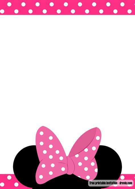 baby minnie mouse birthday invitations  printable