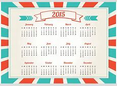 Retro Style 2015 Calendar Download Free Vector Art