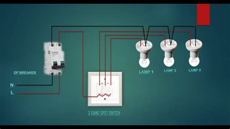 Electrical House Wiring Gang Switch Diagram Youtube