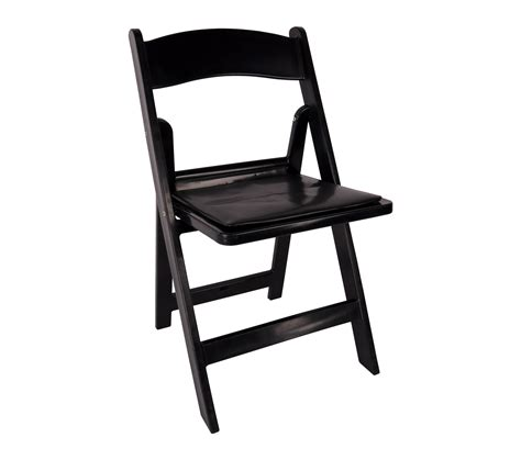 chair black resin folding chair with padded seat