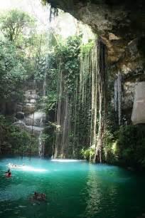 Cenote Cave Swimming Mexico