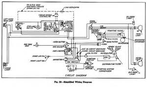 Simplified Wiring Diagram For 1945 46 Chevrolet Trucks 1 1 2 Ton 4 X 4 1943 44 Us Military