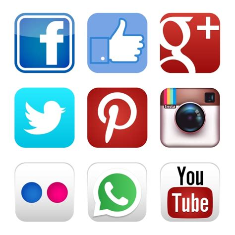 Social Media Icons Vector 25 Social Media Icons Show Your Site To The World