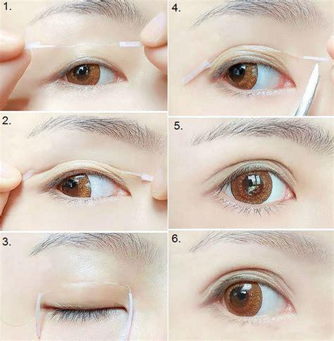 create bigger eyes  double eyelid trick alldaychic