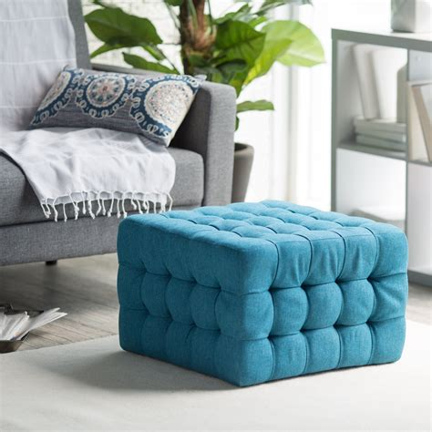 blue ottoman coffee table blue tufted ottoman coffee table in square shape with no