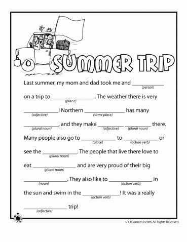 Printable Mad Libs Archives  Woo! Jr Kids Activities