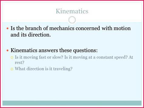 class  notes physics kinematics exercise  fabtemplatez