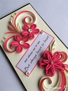 Quilling card, greeting card, Love you card, Thank you ...