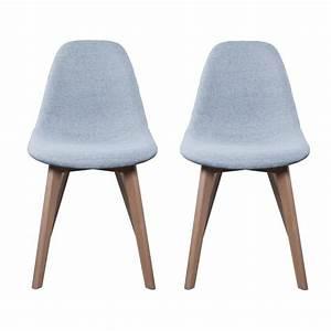 Lot Chaises Scandinaves : lot de 2 chaises scandinaves en tissus gris au meilleur prix ~ Teatrodelosmanantiales.com Idées de Décoration