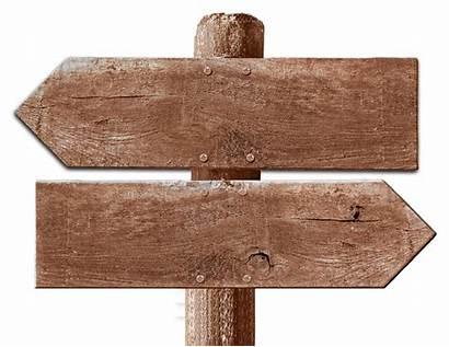 Direction Board Signboard Transparent Arrow Clipart Wooden