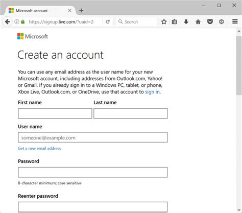 How To Create A Microsoft Account For Windows 10
