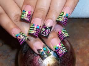 nail design neon nail designs acrylic nail designs