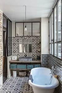 Carreaux De Ciment Salle De Bain : l 39 atelier des tilleuls les carreaux ciment dans une salle ~ Melissatoandfro.com Idées de Décoration