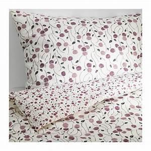 Ikea Bettwäsche 200x200 : ikea majviva king duvet cover pillowcases set white lilac ~ Michelbontemps.com Haus und Dekorationen