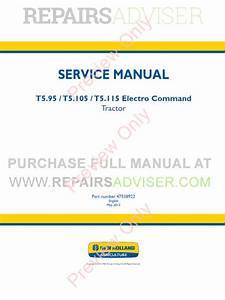 New Holland T5 95  T5 115 Electro Command Tractor Service