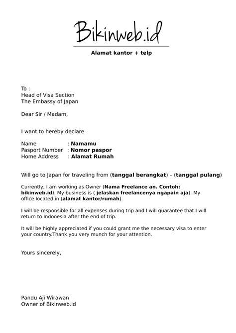 Contoh Surat Keterangan Kerja Visa Australia Suratmenyuratnet
