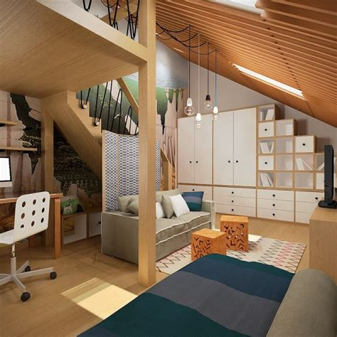 story bedroom decorating ideas 3 creative top floor rooms with wood accents