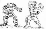 Coloring Hulk Hulkbuster Buster Printable Armor Venom Drawing Marvel Coloringpagesfortoddlers sketch template
