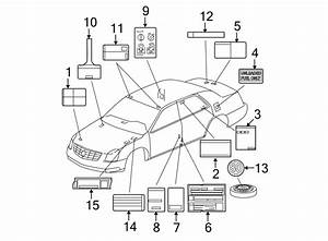 Cadillac Dts Label  Ac  Air Conditioning  A  C  System