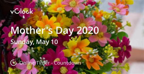 mothers day timer vclock