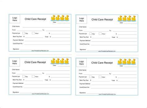 daycare receipt templates    premium