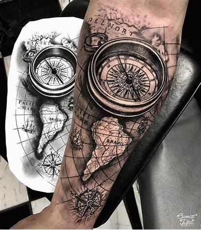 Tattoos Compass Tattoo Sleeve Nautical Map Arm