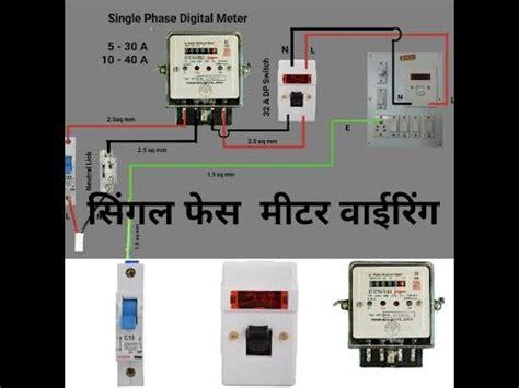 Single Phase Energy Meter Wiring