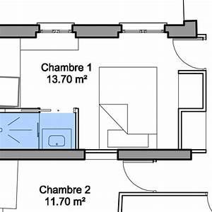 Agencer Une Chambre : agr able agencer une petite chambre 1 plan salle de ~ Zukunftsfamilie.com Idées de Décoration