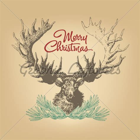 christmas stag 183 gl stock images