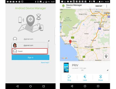 android device manager app how to find lock or erase your blackberry priv from