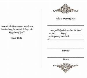 free baby dedication certificate With baby dedication certificates templates
