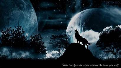 Wolf Night Wolves Howl Without
