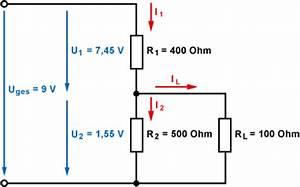 Parallelschaltung Strom Berechnen : spannungsteiler zur spannungsstabilisierung ~ Themetempest.com Abrechnung
