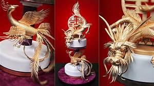 Dragon and Phoenix Cake - Yeners Way