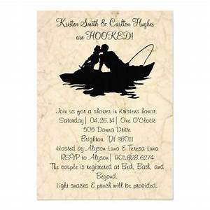 vintage fishing lovers boat wedding invitation boats With fishing themed wedding shower