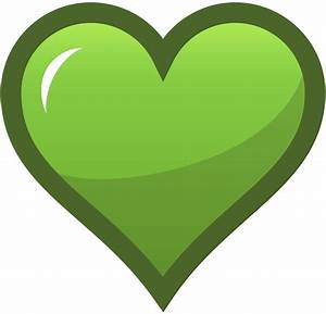 yellowgreen heart