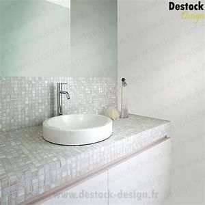 mosaique blanche nacre doree pour salle de bain a l39 italienne With mosaique blanche salle de bain