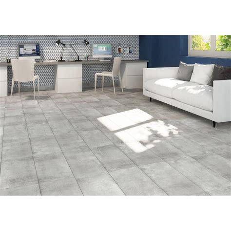 carrelage sol et mur gris effet bton proton l x l cm with carrelage imitation cuir leroy