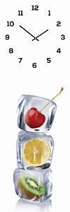 Wanduhr Aus Glas : wanduhr aus glas 20x60cm uhr als glasbild eisw rfel obst fr chte k che levandeo ~ Buech-reservation.com Haus und Dekorationen