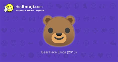 Bear Emoji Meaning With Pictures