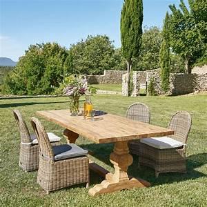 Chaise De Jardin En Resine : chaise de jardin en r sine tress e et coussin cru st ~ Farleysfitness.com Idées de Décoration