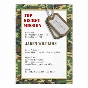 top secret camouflage camo birthday party invitation With camouflage party invitation template