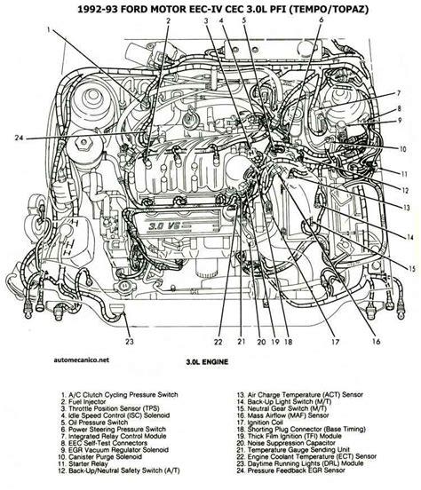 1994 Ford Aerostar Engine Diagram by 1993 Ford Tempo Engine Diagram Cec Ubicacion De