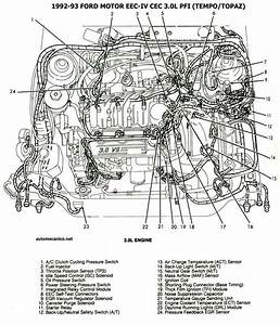 1993 Ford Tempo Engine Diagram