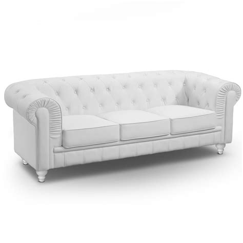 chesterfield canapé canapé 3 places chesterfield blanc