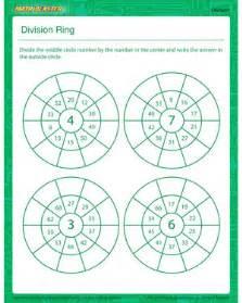 2nd math division ring printable division worksheet for math blaster