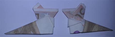 stiefel aus einem geldschein falten origami mit geldscheinen