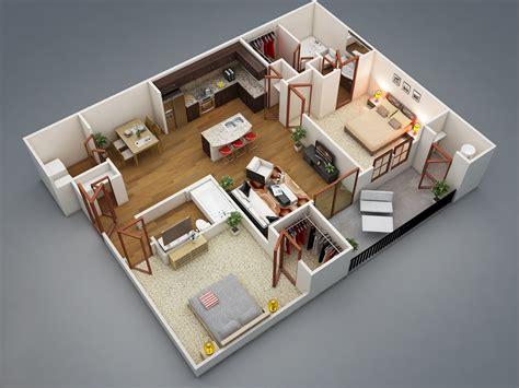 2 bedroom house floor plans 2 bedroom apartment house plans