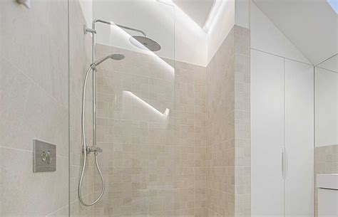 Clean  Travertine Shower Homeviable